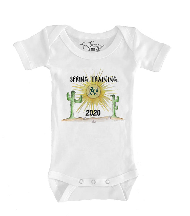 Oakland Athletics Infant 2020 Spring Training Short Sleeve Snapper
