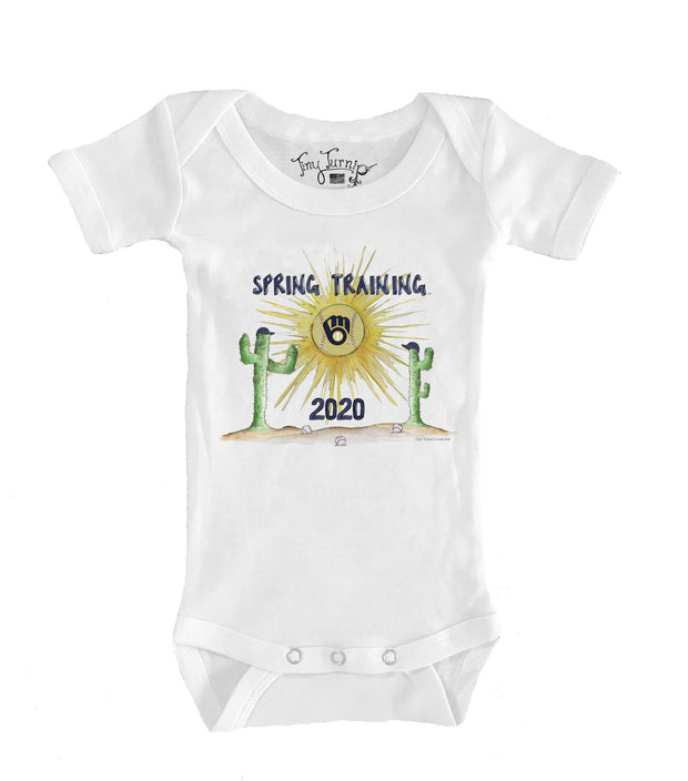 Milwaukee Brewers Infant 2020 Spring Training Short Sleeve Snapper