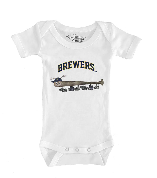 Milwaukee Brewers Infant Batterpillar Short Sleeve Snapper