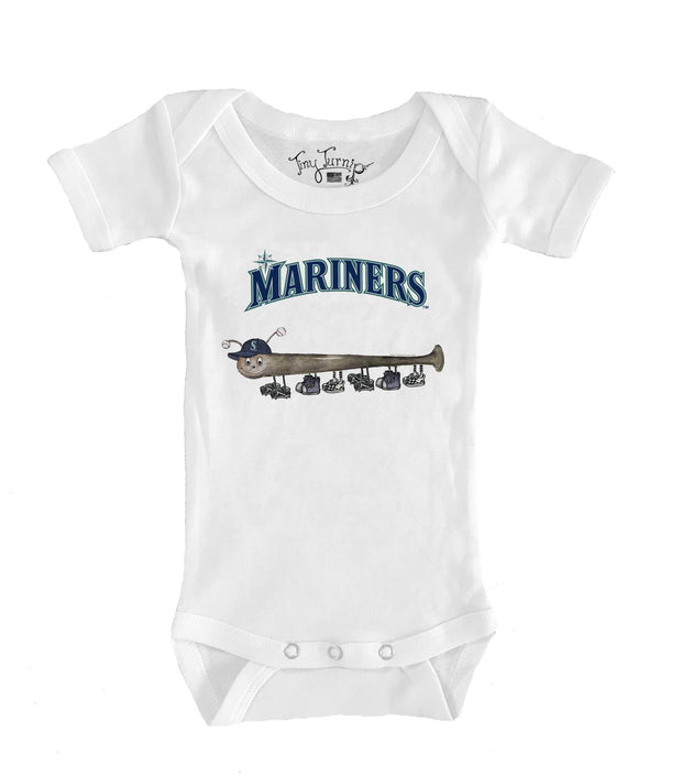Seattle Mariners Infant Batterpillar Short Sleeve Snapper