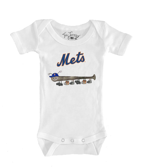 New York Mets Infant Batterpillar Short Sleeve Snapper