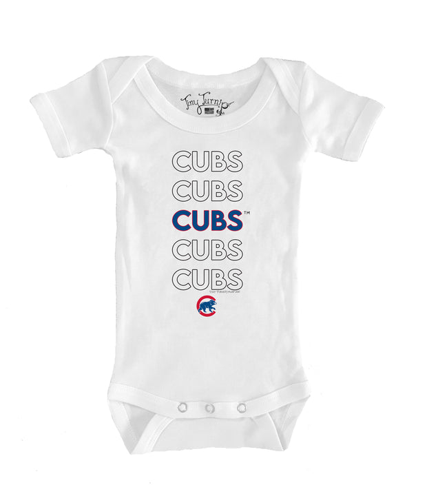 Chicago Cubs Infant Stacked Short Sleeve Snapper