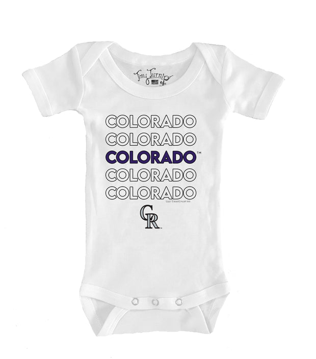 Colorado Rockies Infant Stacked Short Sleeve Snapper
