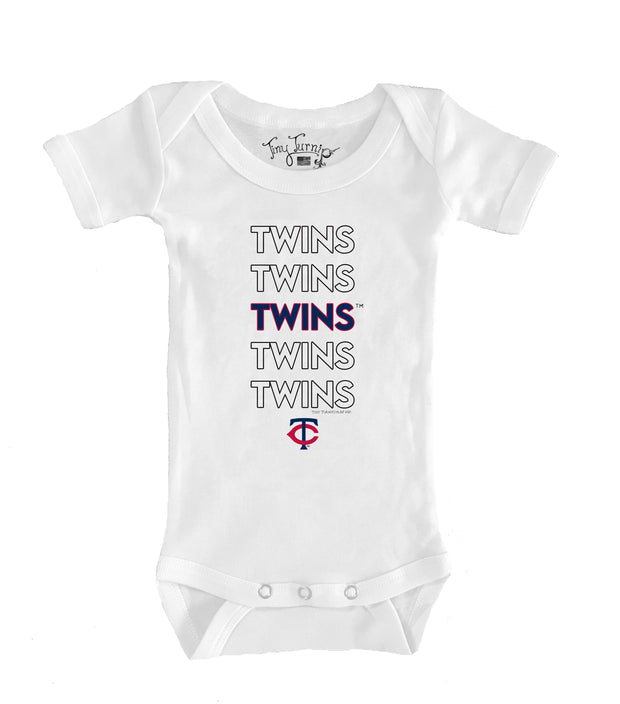 Minnesota Twins Infant Stacked Short Sleeve Snapper