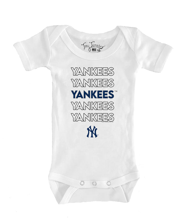 New York Yankees Infant Stacked Short Sleeve Snapper