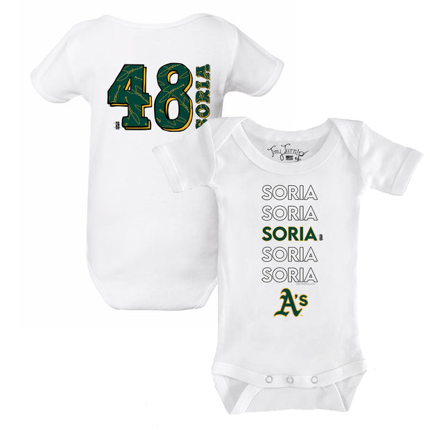 Oakland Athletics Joakim Soria Stacked Short Sleeve Snapper