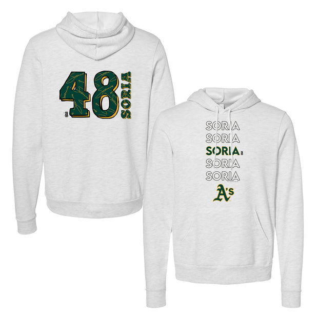 Oakland Athletics Joakim Soria Stacked Unisex Pullover Hoodie