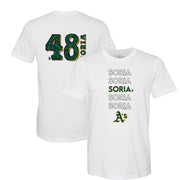 Oakland Athletics Joakim Soria Stacked Tee Shirt