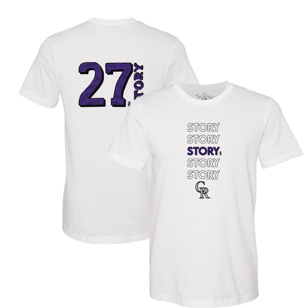Colorado Rockies Trevor Story Stacked Tee Shirt