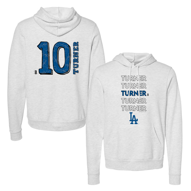 Los Angeles Dodgers Justin Turner Stacked Unisex Pullover Hoodie