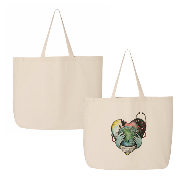 "Tiny Turnip ""Healthcare Heroes"" Canvas Tote Bag"