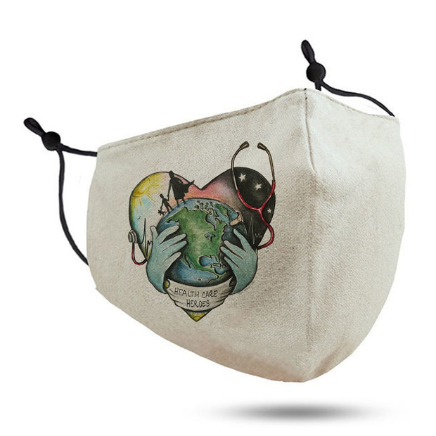 "Tiny Turnip ""Healthcare Heroes"" Adult Cotton Face Mask"
