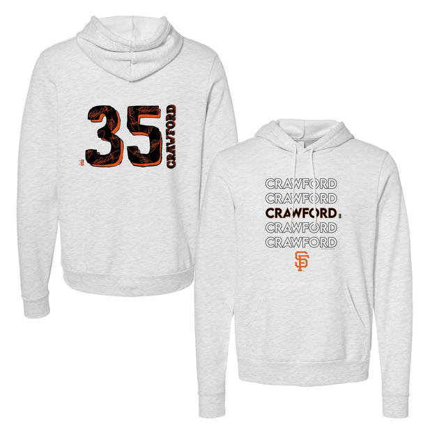 San Francisco Giants Brandon Crawford Stacked Unisex Pullover Hoodie
