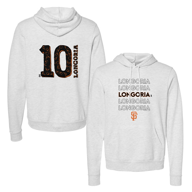 San Francisco Giants Evan Longoria Stacked Unisex Pullover Hoodie
