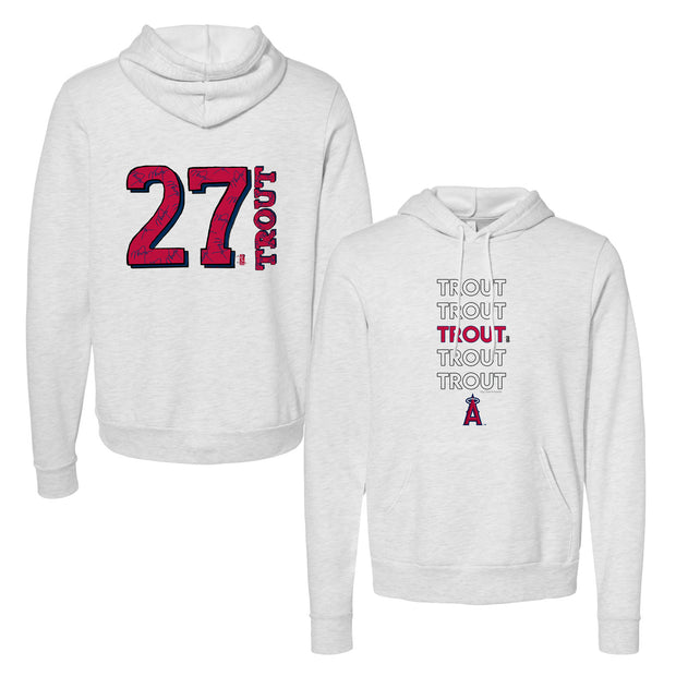 Los Angeles Angels Mike Trout Stacked Unisex Pullover Hoodie
