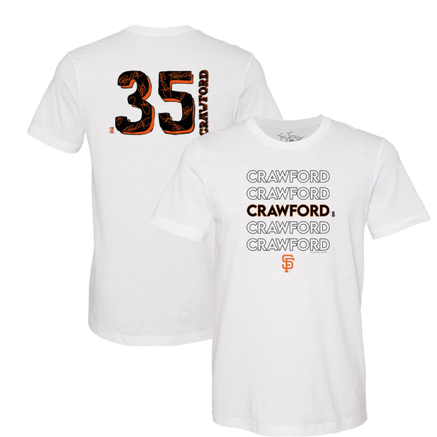 San Francisco Giants Brandon Crawford Stacked Tee Shirt