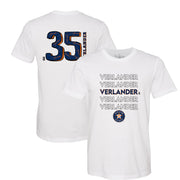Houston Astros Justin Verlander Stacked Tee Shirt