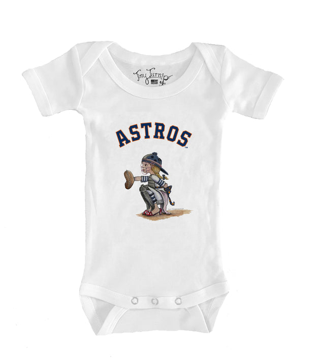 Houston Astros Infant Kate the Catcher Short Sleeve Snapper