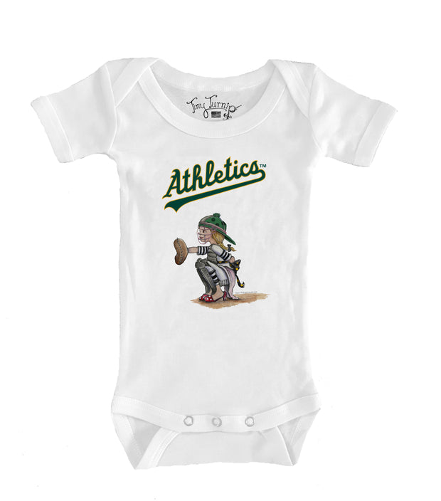 Oakland Athletics Infant Kate the Catcher Short Sleeve Snapper