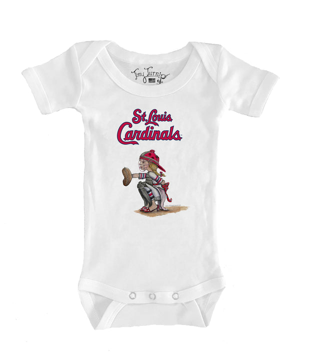 St. Louis Cardinals Infant Kate the Catcher Short Sleeve Snapper