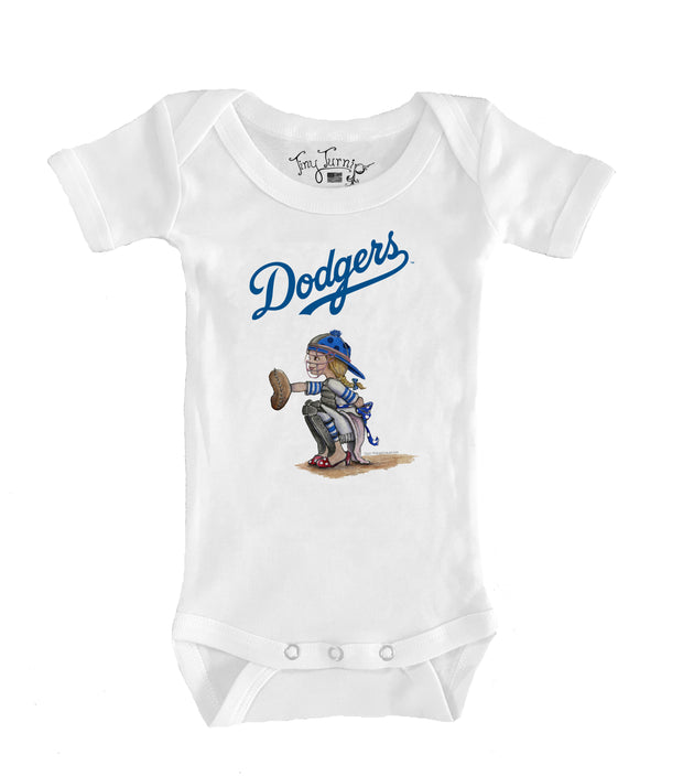 Los Angeles Dodgers Infant Kate the Catcher Short Sleeve Snapper