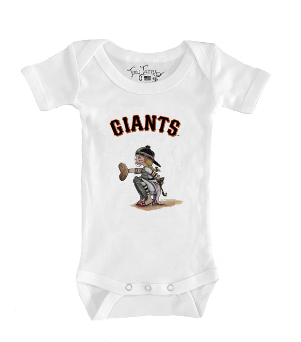 San Francisco Giants Infant Kate the Catcher Short Sleeve Snapper