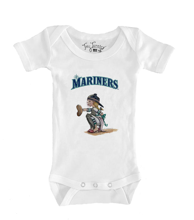 Seattle Mariners Infant Kate the Catcher Short Sleeve Snapper