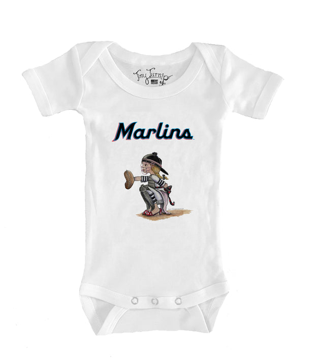 Miami Marlins Infant Kate the Catcher Short Sleeve Snapper