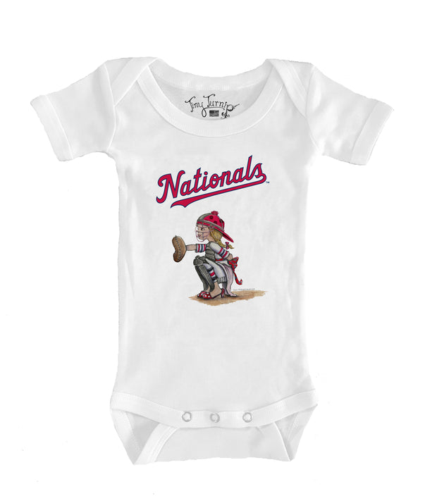Washington Nationals Infant Kate the Catcher Short Sleeve Snapper