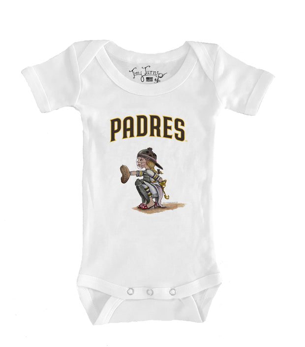 San Diego Padres Infant Kate the Catcher Short Sleeve Snapper