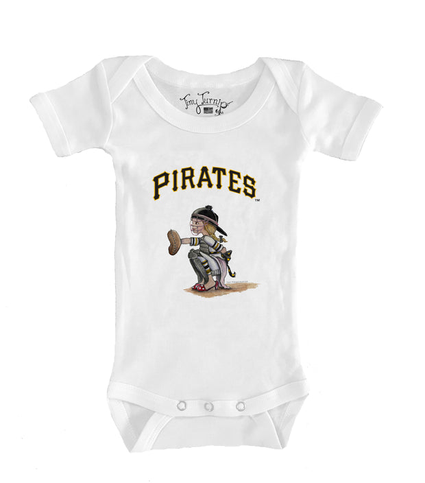 Pittsburgh Pirates Infant Kate the Catcher Short Sleeve Snapper