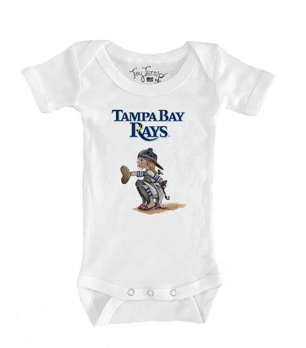 Tampa Bay Rays Infant Kate the Catcher Short Sleeve Snapper
