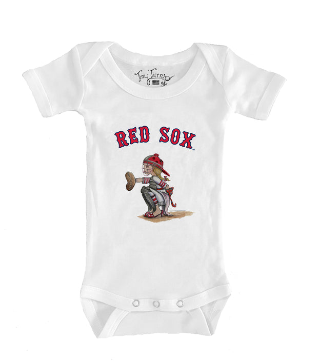 Boston Red Sox Infant Kate the Catcher Short Sleeve Snapper