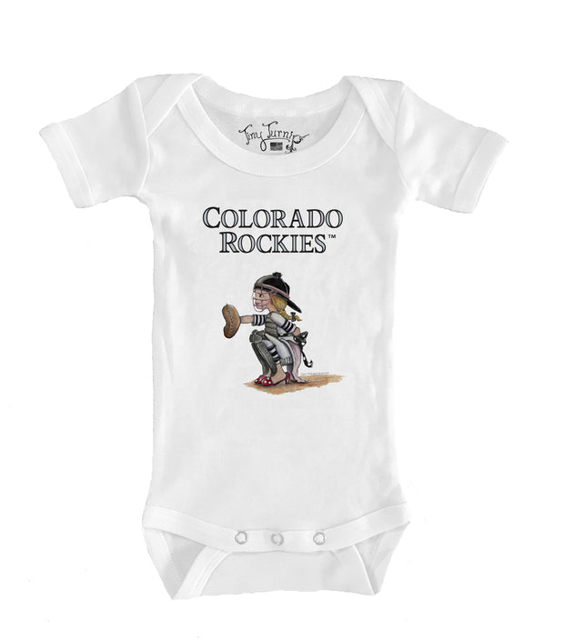 Colorado Rockies Infant Kate the Catcher Short Sleeve Snapper
