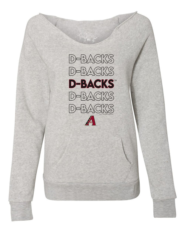 Arizona Diamondbacks Women's Stacked Slouchy Sweatshirt