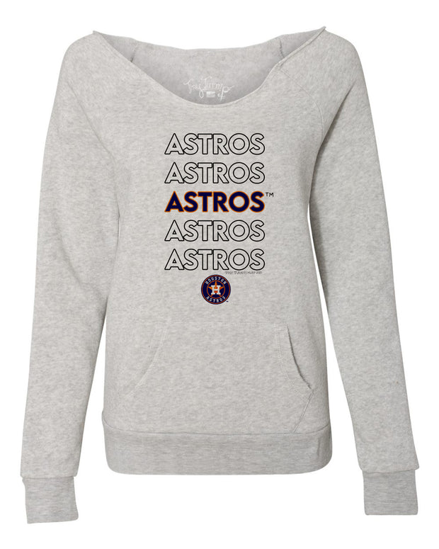 Houston Astros Women's Stacked Slouchy Sweatshirt