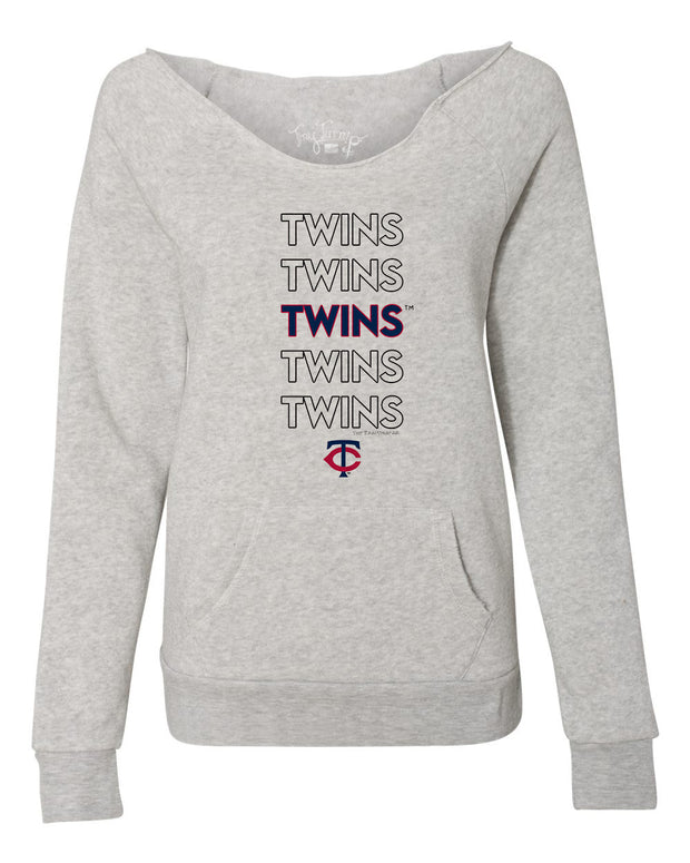 Minnesota Twins Women's Stacked Slouchy Sweatshirt
