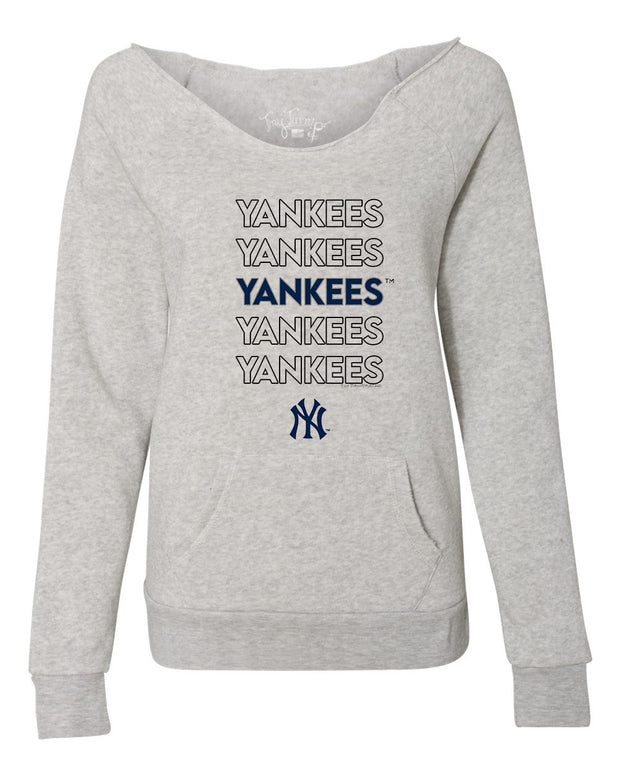New York Yankees Women's Stacked Slouchy Sweatshirt