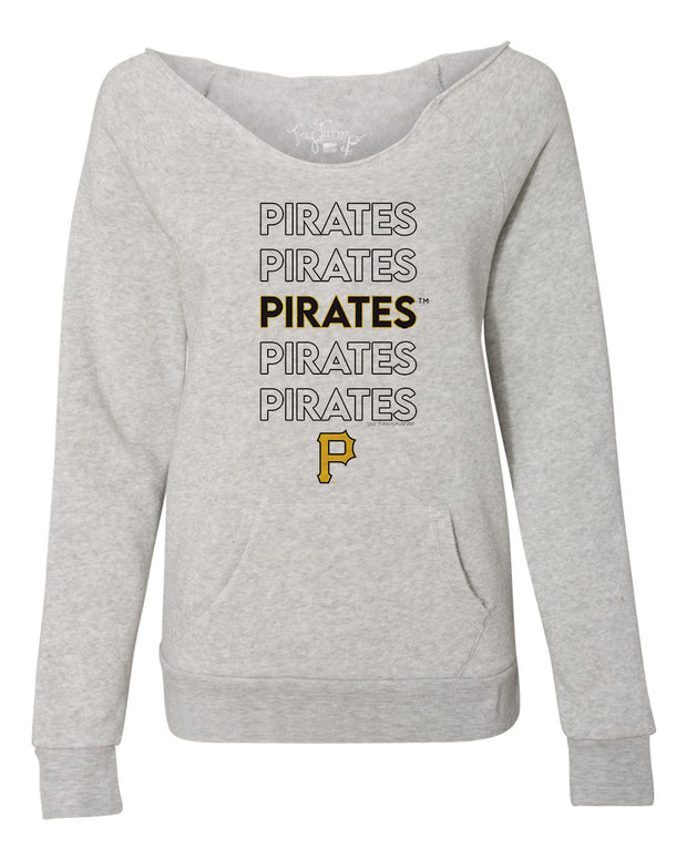 Pittsburgh Pirates Women's Stacked Slouchy Sweatshirt