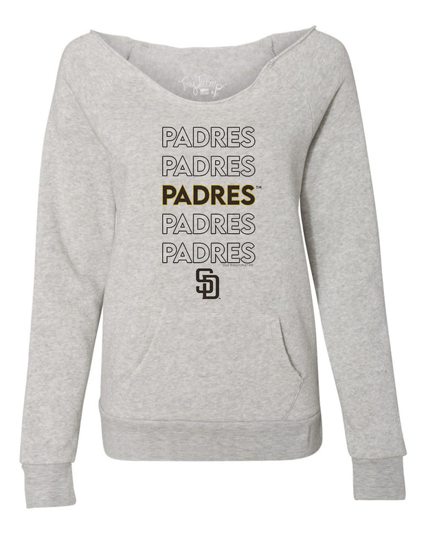 San Diego Padres Women's Stacked Slouchy Sweatshirt