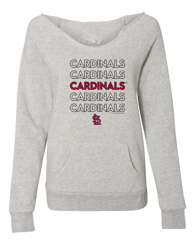 St. Louis Cardinals Women's Stacked Slouchy Sweatshirt