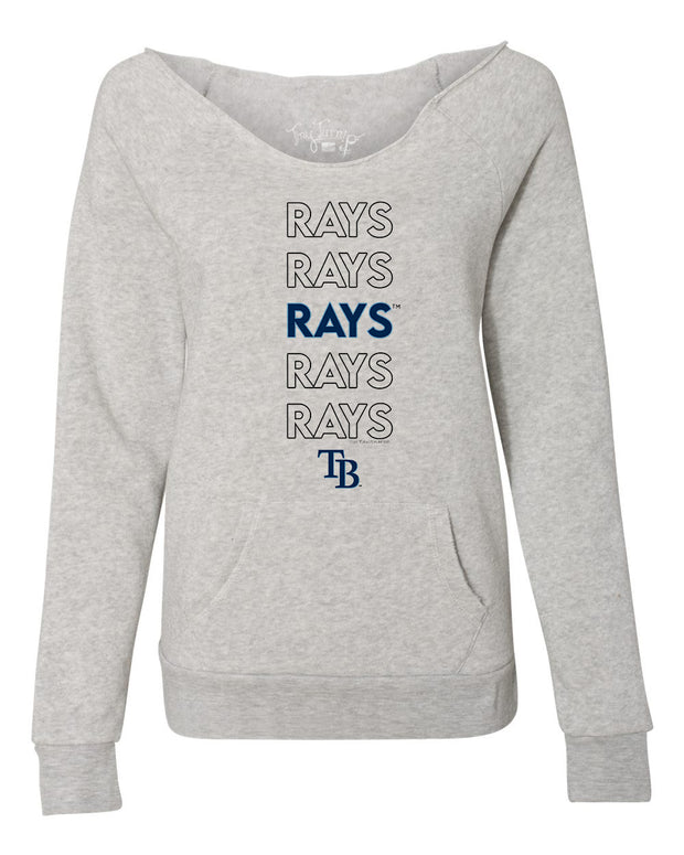 Tampa Bay Rays Women's Stacked Slouchy Sweatshirt