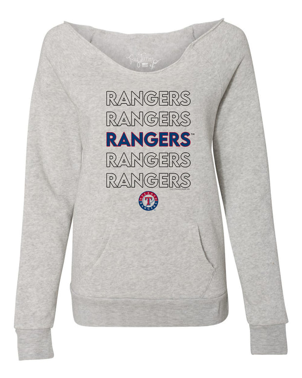Texas Rangers Women's Stacked Slouchy Sweatshirt
