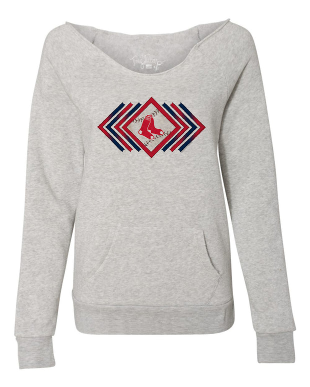Boston Red Sox Women's Prism Arrows Slouchy Sweatshirt