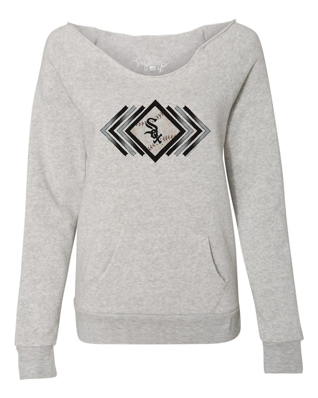 Chicago White Sox Women's Prism Arrows Slouchy Sweatshirt