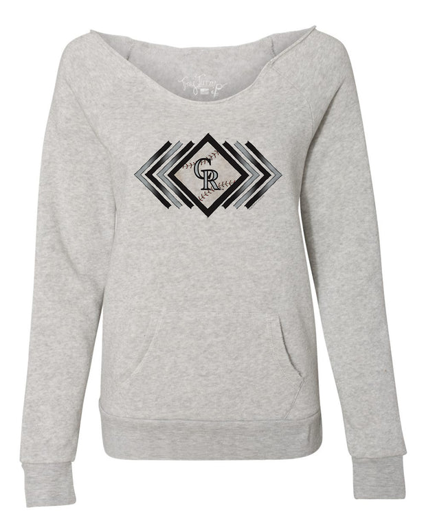 Colorado Rockies Women's Prism Arrows Slouchy Sweatshirt