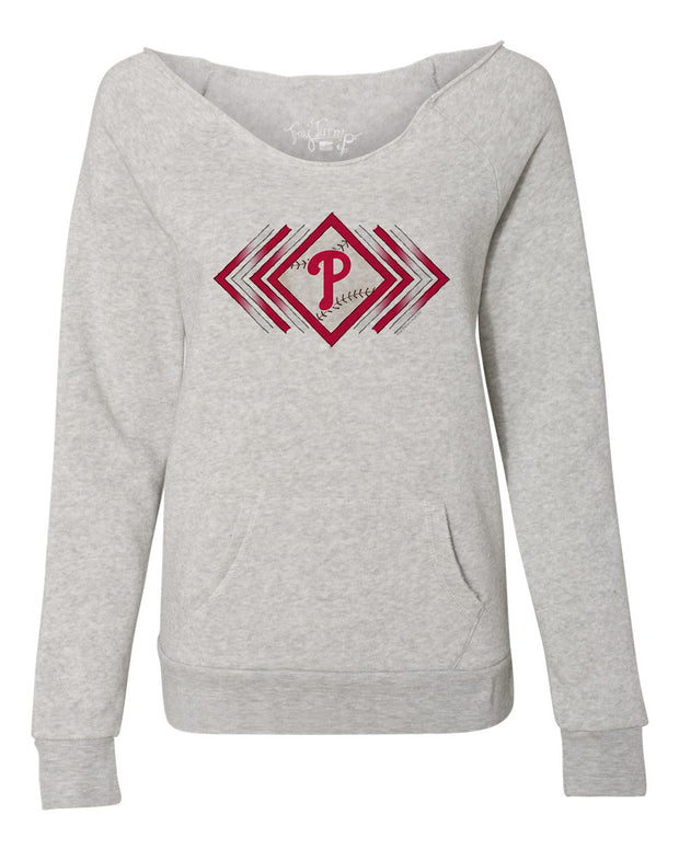 Philadelphia Phillies Women's Prism Arrows Slouchy Sweatshirt