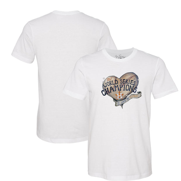 Houston Astros 2017 World Series Champions Baseball Heart Tee Shirt