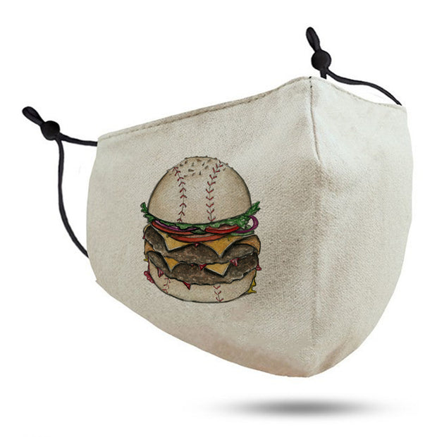 Burger Kids Cotton Face Mask
