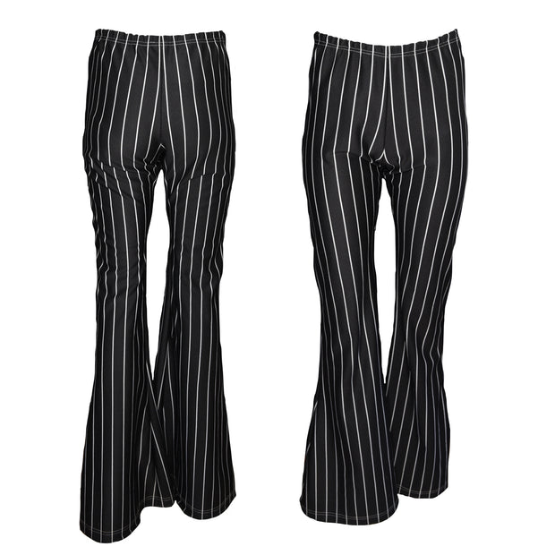 Tiny Turnip Black Pinstripe Flare Pants